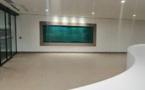 Tableau bleu et vert émeraude de Guillaume Bottazzi présenté à Lyon pendant les Journées Européennes du Patrimoine