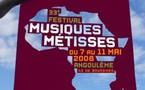 Angoulème, musique du monde : Musiques Métisses 2008. 7 au 10 mai