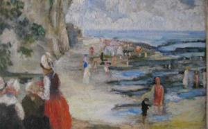 Roboa - la plage, huile sur toile, 45 x 54 cm