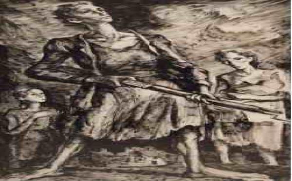 19/10 au 13/11 > Paris, Galerie Saphir au Marais : Maurice Mendjisky. Hommage aux combattants du ghetto de Varsovie
